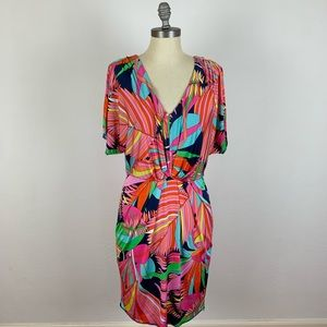 Trina Turk Colorful V Neck Dress